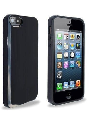 Microsonic Glossy Soft Kılıf iPhone  5 & 5S Siyah Renkli